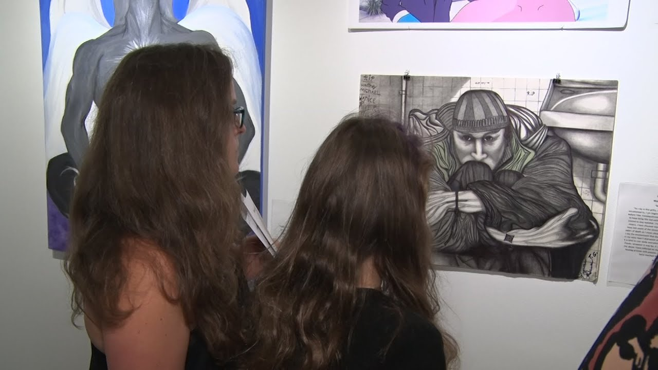 Art exhibition reveals pain of opioid addiction